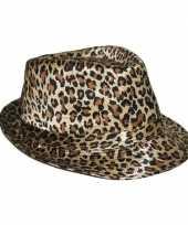 Goedkope trilby hoedje luipaard goedkope