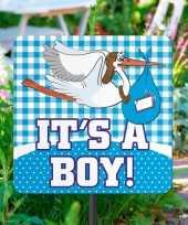 Goedkope tuinbord geboorte jongen