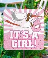 Goedkope tuinbord geboorte meisje