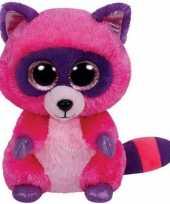Goedkope ty beanie knuffel roze wasbeer