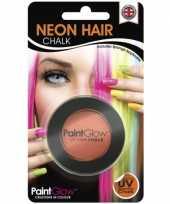 Goedkope uv haarkrijt oranje