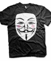 Goedkope v for vendetta t shirt heren