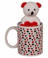Goedkope valentijnscadeau beker knuffelbeer