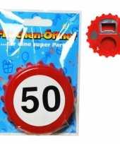 Goedkope verkeersbord flesopener jaar 10060094