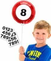 Goedkope verkeersbord folieballon cijfer stickers