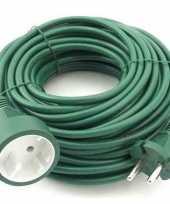 Goedkope verlengsnoer kabel groen meter binnen buiten