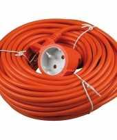 Goedkope verlengsnoer kabel oranje meter binnen buiten