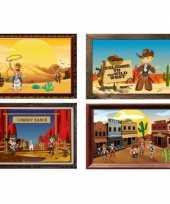 Goedkope vier decoratie posters western thema