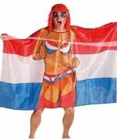 Goedkope vlag poncho vrouw