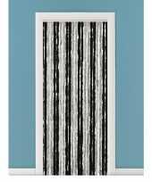 Goedkope vliegengordijn deurgordijn kattenstaart grijs zwart