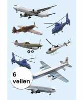 Goedkope vliegtuigen stickers vellen 10116031