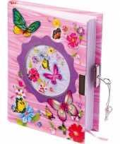 Goedkope vlinder dagboek slot