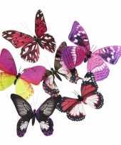 Goedkope vlinder magneet roze paars