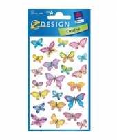 Goedkope vlinder stickers vellen