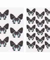 Goedkope vlinder stickers zwart vellen