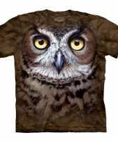 Goedkope vogel t-shirt uil volwassenen