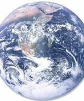 Goedkope wanddecoratie bord poster aarde globe karton