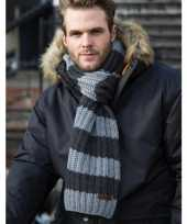 Goedkope warme gebreide gestreepte sjaal
