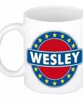 Goedkope wesley naam koffie mok beker
