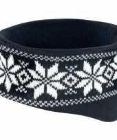 Goedkope winter gebreide haarband zwart 10076887