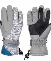 Goedkope winter handschoenen starling mirre grijs wit kinderen