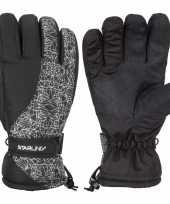 Goedkope winter handschoenen starling mirre zwart wit kinderen