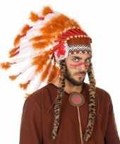 Goedkope wit oranje luxe indianen tooi heren
