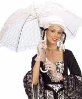 Goedkope witte kanten paraplu