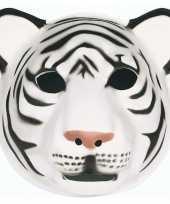 Goedkope witte tijger masker kinderen