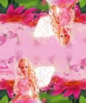 Goedkope x barbie themafeest servetten roze papier
