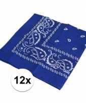 Goedkope x blauwe boeren zakdoeken 10126073