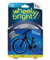 Goedkope x blauwe fietsverlichting spaakverlichting led lichtslangen