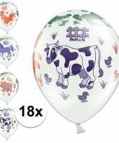 Goedkope x boerderij dieren thema verjaardag ballonnen 10133847
