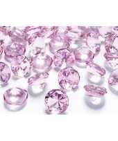 Goedkope x decoratie diamantjes lichtroze 10142359