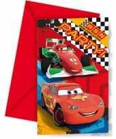 Goedkope x disney cars themafeest uitnodigingen