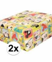 Goedkope x disney inpakpapier cadeaupapier mickey mouse rol
