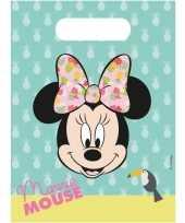 Goedkope x disney minnie mouse tropical themafeest uitdeelzakjes 10150127
