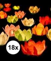 Goedkope x drijvende kaarsen lantaarns bloemen gekleurd papier 10151655