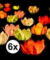 Goedkope x drijvende kaarsen lantaarns bloemen gekleurd papier