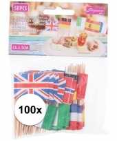 Goedkope x europese landen vlaggetjes cocktailprikkers 10136343