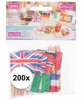 Goedkope x europese landen vlaggetjes cocktailprikkers 10136344