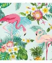 Goedkope x flamingo exotisch thema servetten