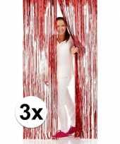 Goedkope x folie deurgordijnen rood 10124828