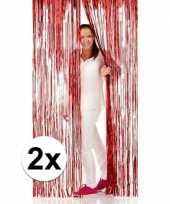 Goedkope x folie deurgordijnen rood