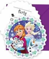 Goedkope x frozen blauw paars themafeest uitnodigingen
