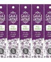 Goedkope x gaias incense luxe wierook stokjes wilde lavendel geur