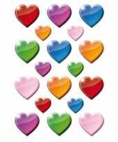 Goedkope x gekleurde hartjes figuren stickers 10141391