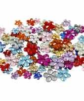 Goedkope x gekleurde plak diamantjes bloem