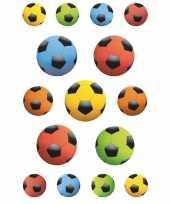 Goedkope x gekleurde voetballen stickers 10139718