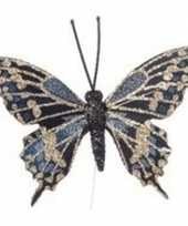 Goedkope x goud blauwe vlinder steker decoratie